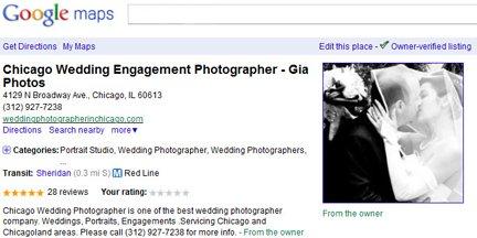 chicago wedding photographer google reviews